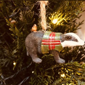 Badger Christmas Tree Decoration
