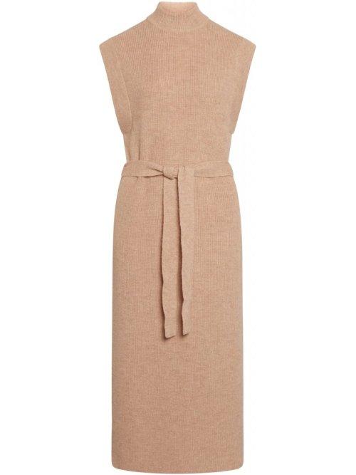 Parisa Jovie Knit Vest in Beige