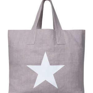 Linen Shopper with Giant Star