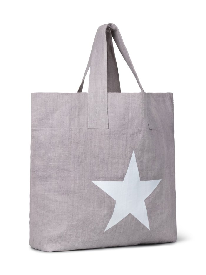 Linen Shopper with Giant Star