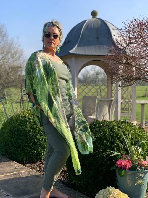 Marianne North Hydrangea Lime Green Throwover