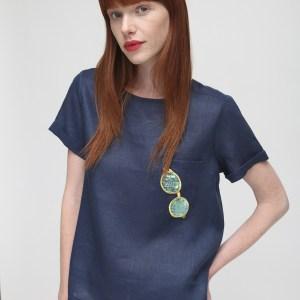 Navy Linen Shirt