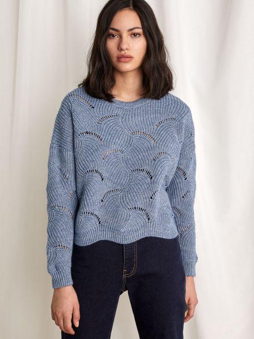 Boxy Sweater in Sky Blue