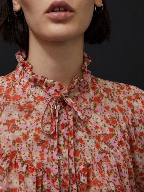 Floral Fluid Shirt in Pink
