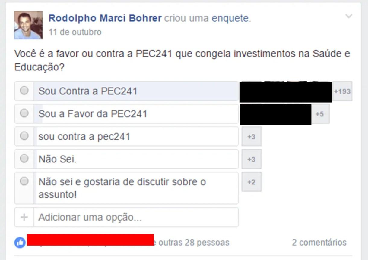 Enquete PEC241 Ouro Preto