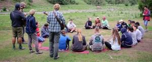 Ásia Central:  acampamento nas montanhas