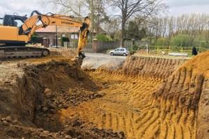 Démarrage de chantier d'une maison passive