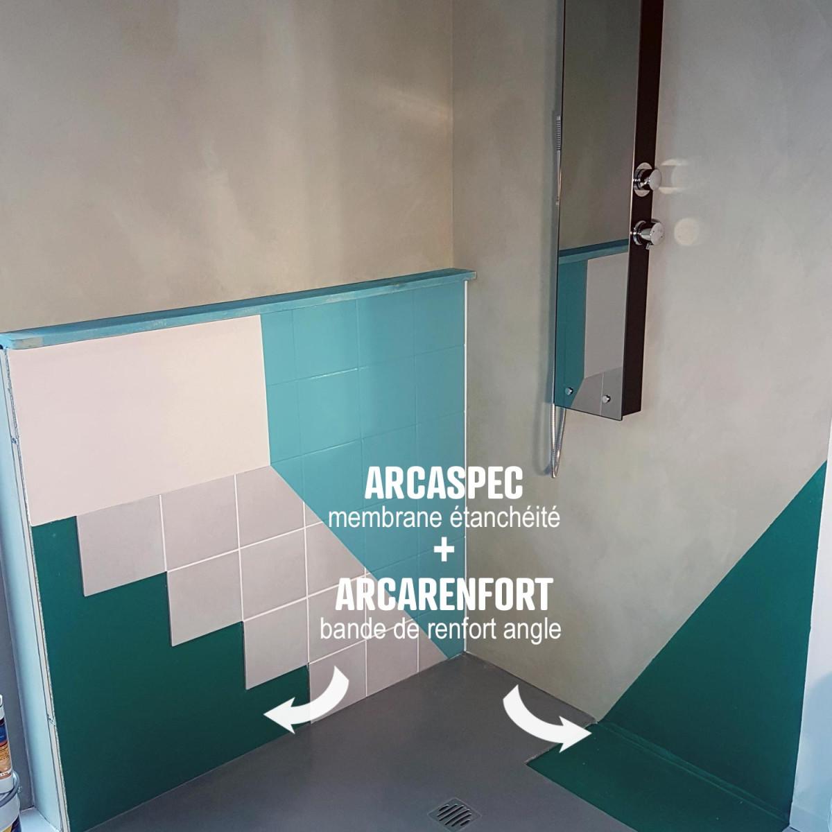 kit etancheite sous carrelage salle de bain spec arcaspec bande arcarenfort