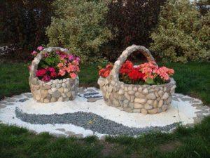 jardin avec des galets et du gravier