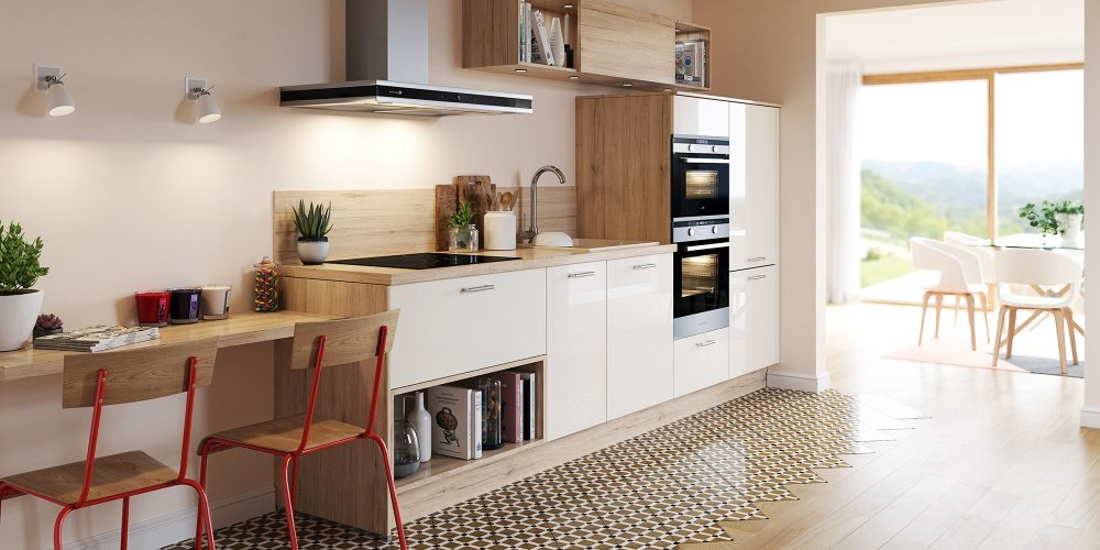cuisine blanche et bois 20