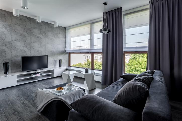 salon gris quelle couleur de rideaux choisir pour votre deco