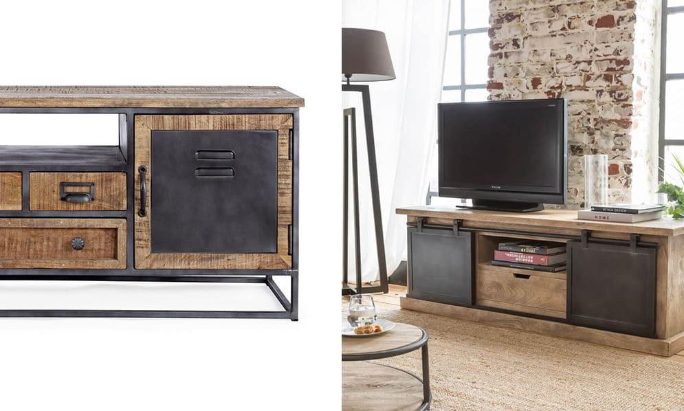 meuble tv industriel 12 modeles pour
