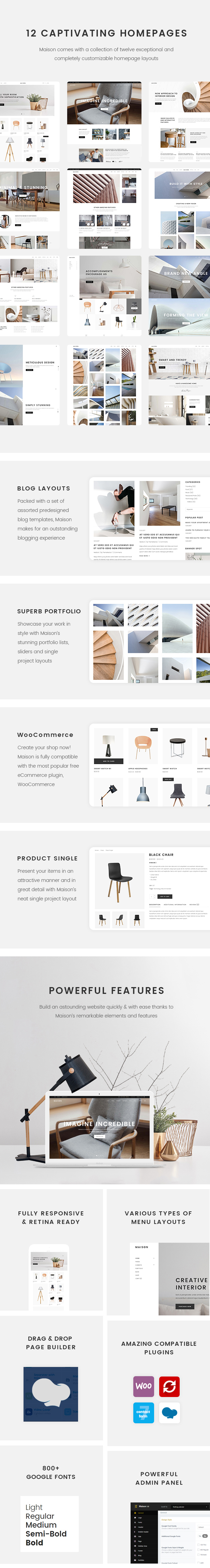 Maison - Modern Theme for Interior Designers and Architects - 1