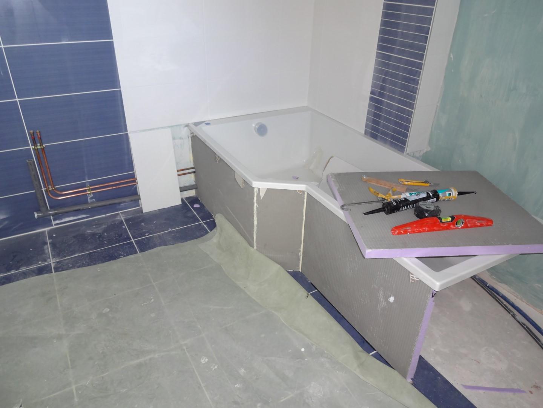 Pose De La Baignoire La Rnovation De Notre Maison