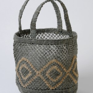 Small round jute macrame bag g:n