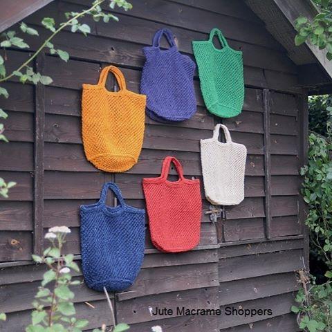 Wonderful new colours jute macrame bags @maisonbengal