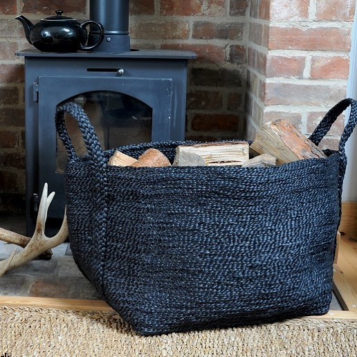 Fantastic for all storage our large dark charcoal jute basket, available online