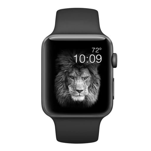 Black Band for Apple Watch Sport Band 38mm 42mm Mens and Womens