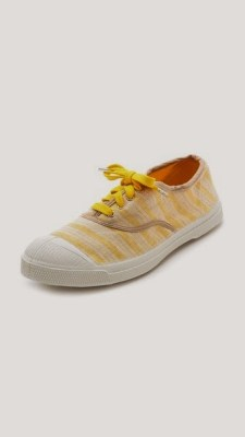 limited edition canvas shoe in a yellow stripe