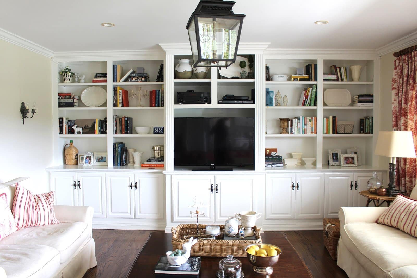 Family room built ins rearrange how i pared down and - Living room built ins ...