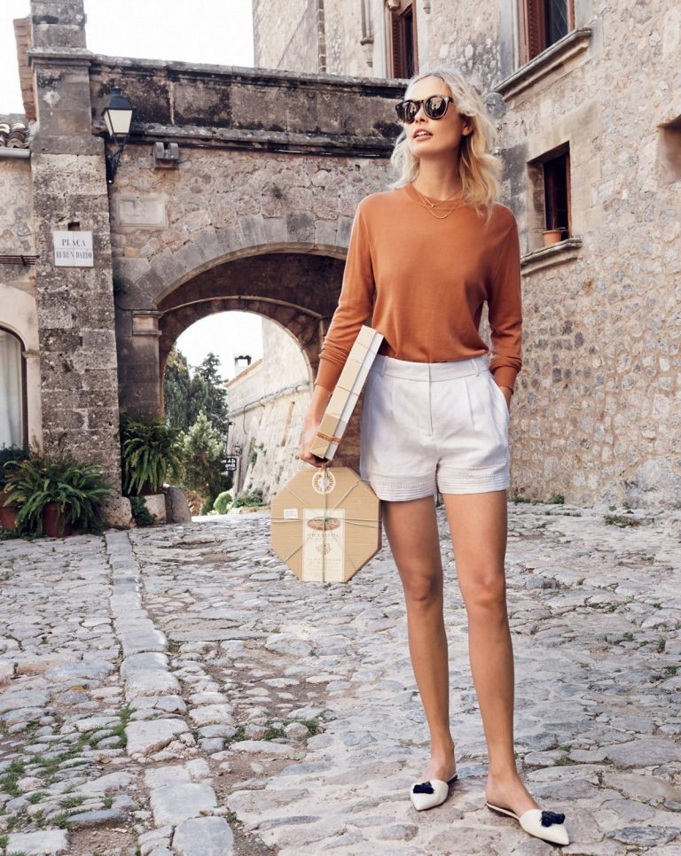 dressy shorts with sweater cute summer street style