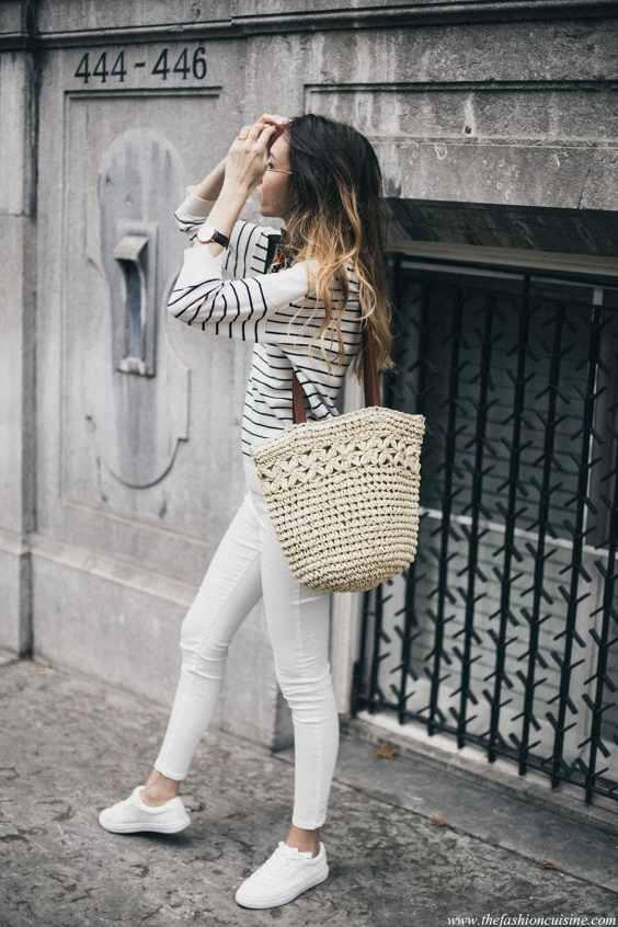 straw-bag-striped-shirt-street-style