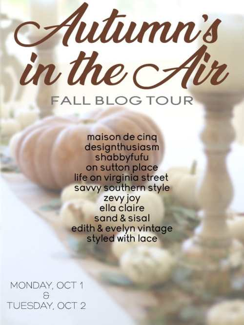 autumn's in the air blog tour fall decorating ideas