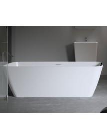 baignoire ilot en solid surface riho malaga 160x75 cm