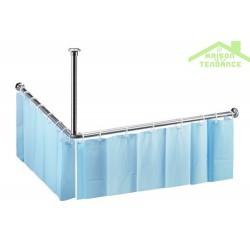 tringle pour rideau de douche en acier poli 900x900mm