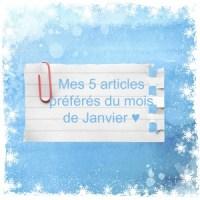 Mes 5 articles préférés du mois de Janvier ♥