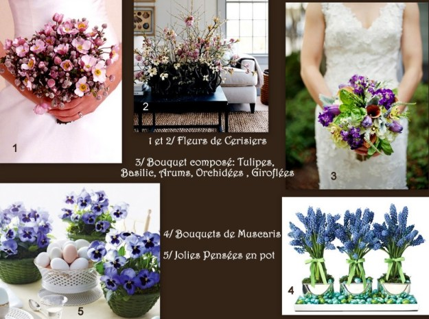 Bouquets de mariée et décorations pour vos tables