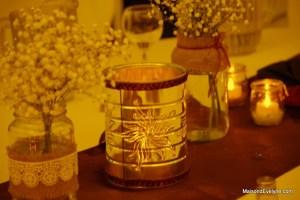 Lanterne de boite de métal