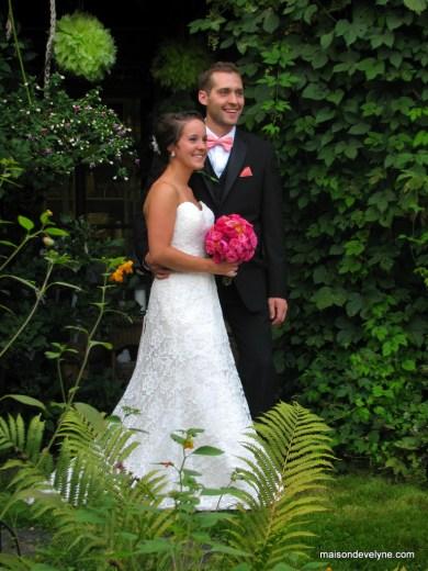 Mariés au jardin