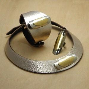 Collar y pulsera y anillo Xquis
