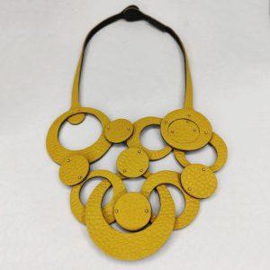 Collar olivia trenzado amarillo