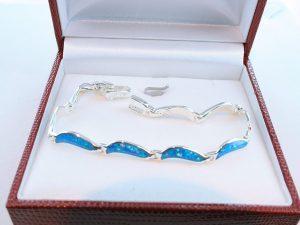 bracelet en opale et argent 925 par 1000 BR-OP-BL-002