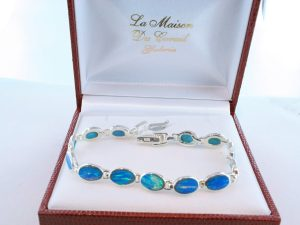 bracelet en opale et argent 925 par 1000 BR-OP-BL-009