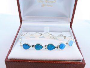 bracelet en opale et argent 925 par 1000 BR-OP-BL-013
