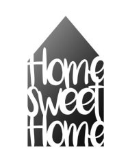 Home sweet home sjabloon A4