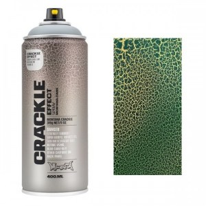 Montana CRACKLE EFFECT Spray Platina groen  RAL 6000  400ml