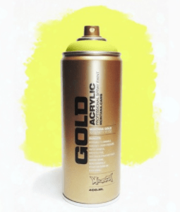 Flash Yellow Montana Gold spuitbus 400ml