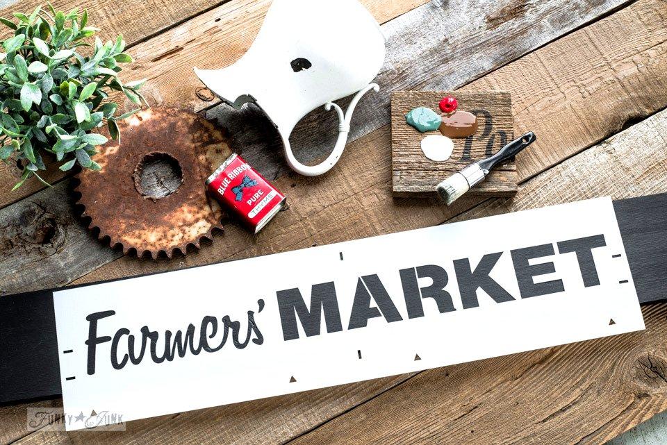 farmers market, Farmers market stencil, grote sjablonen