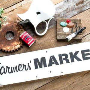 Farmer's Market groot sjabloon Funky Junk