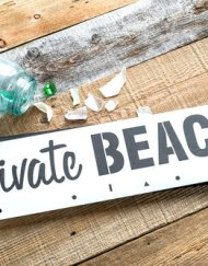 Private beach stencil, private beach sjabloon, groot sjabloon, stoer beach bord