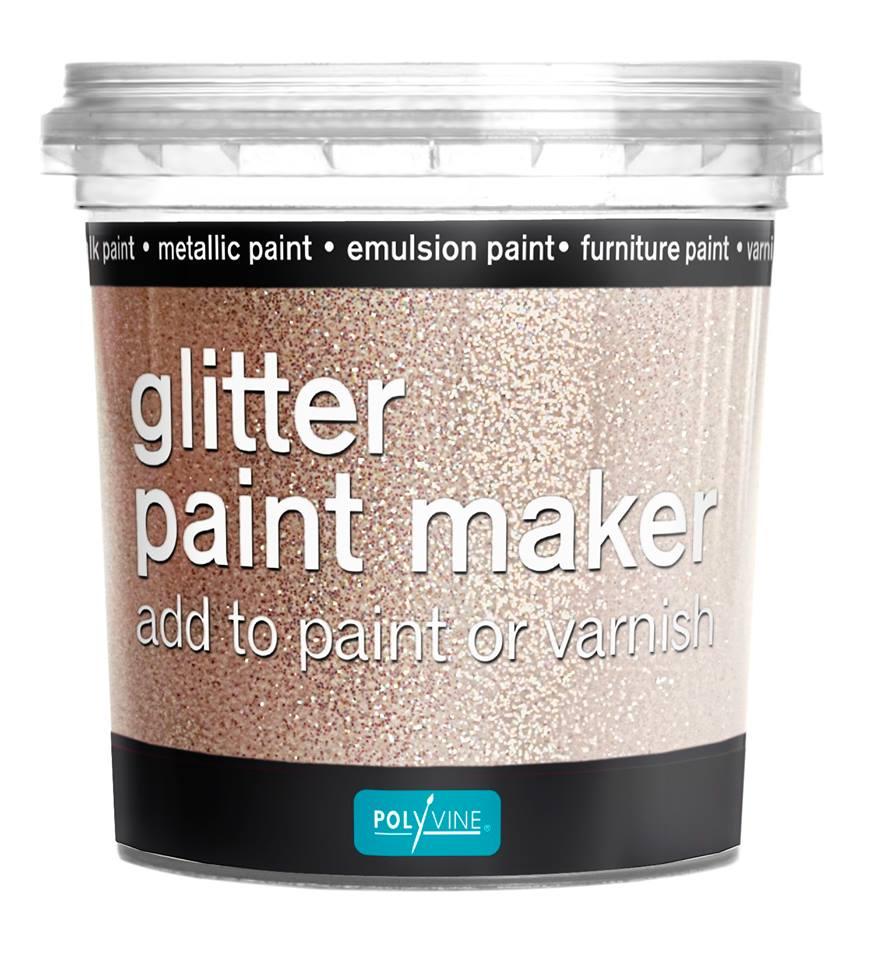 glitter paint maker, Polyvine glitter paint maker, glitter verf, zelf glitter verf maken, glitter muurverf