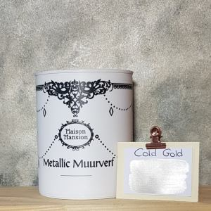 Metallic muurverf Cold Gold 1 liter Maisonmansion