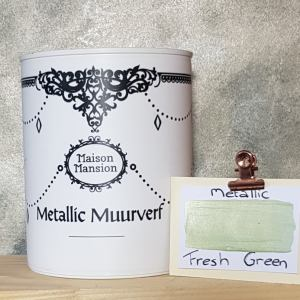 Metallic muurverf Fresh Green 1 liter