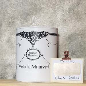 Metallic muurverf Warm Gold 1 liter Maisonmansion