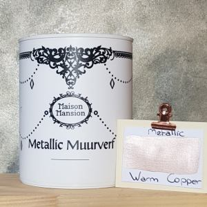Metallic muurverf Warm Copper 1 liter Maisonmansion