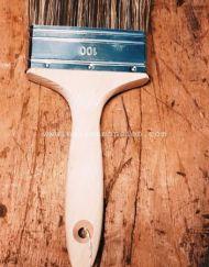 De 100 mm kwast voor de verniswas en beits van MaisonMansion